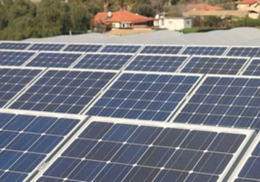 Photovoltaic panels installed in Gush Etzion