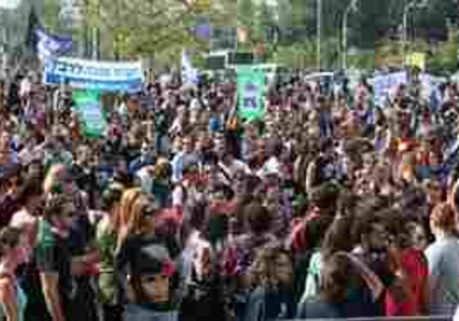 Tel Aviv student rally