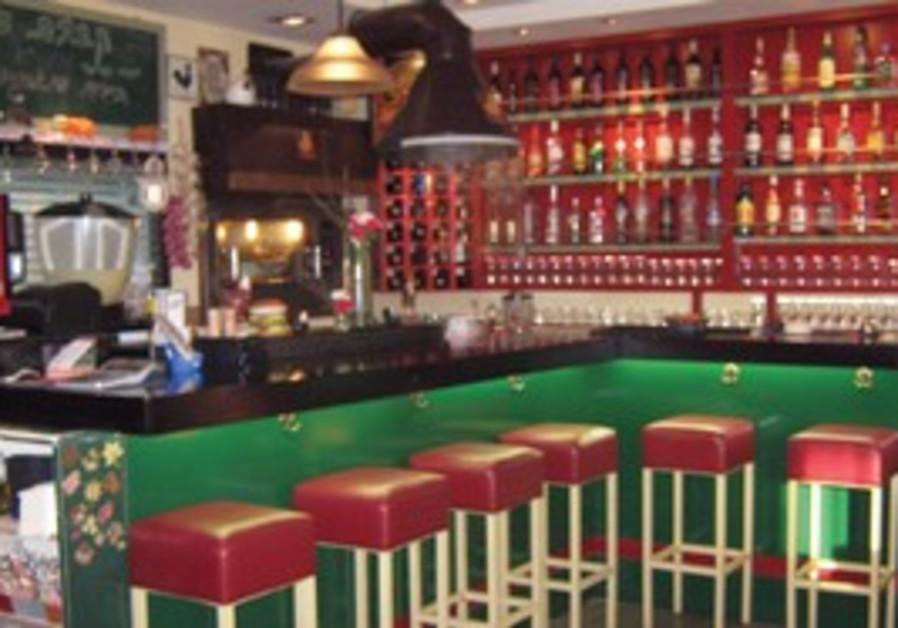 Inside Izy's Bar in Beersheba.