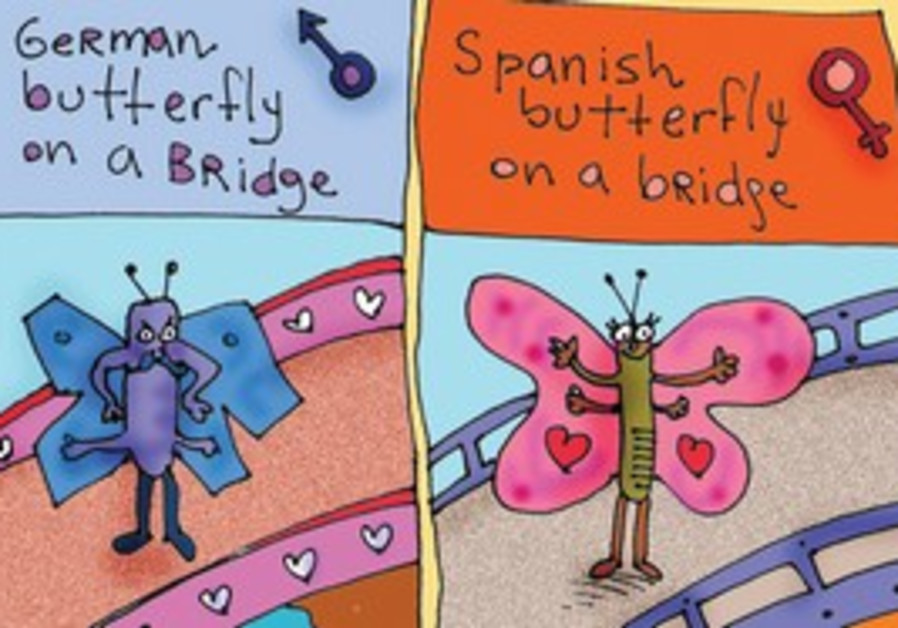 Worldview of a German and a Spanish butterfly