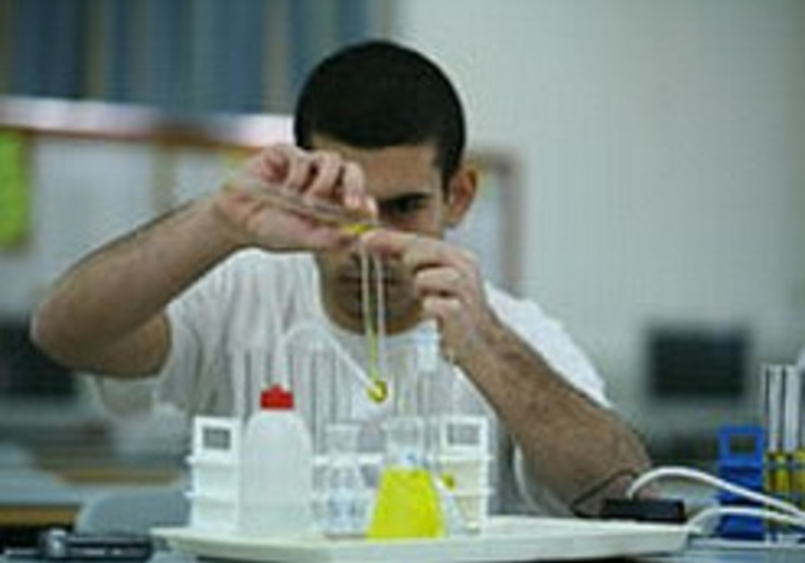 A test being conducted at a laboratory