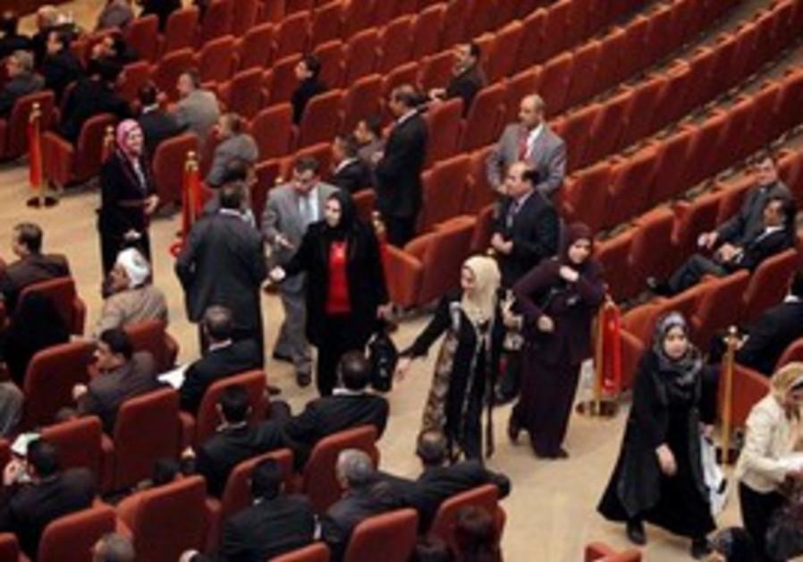 Sunni members of walkout of Iraqi Parliament
