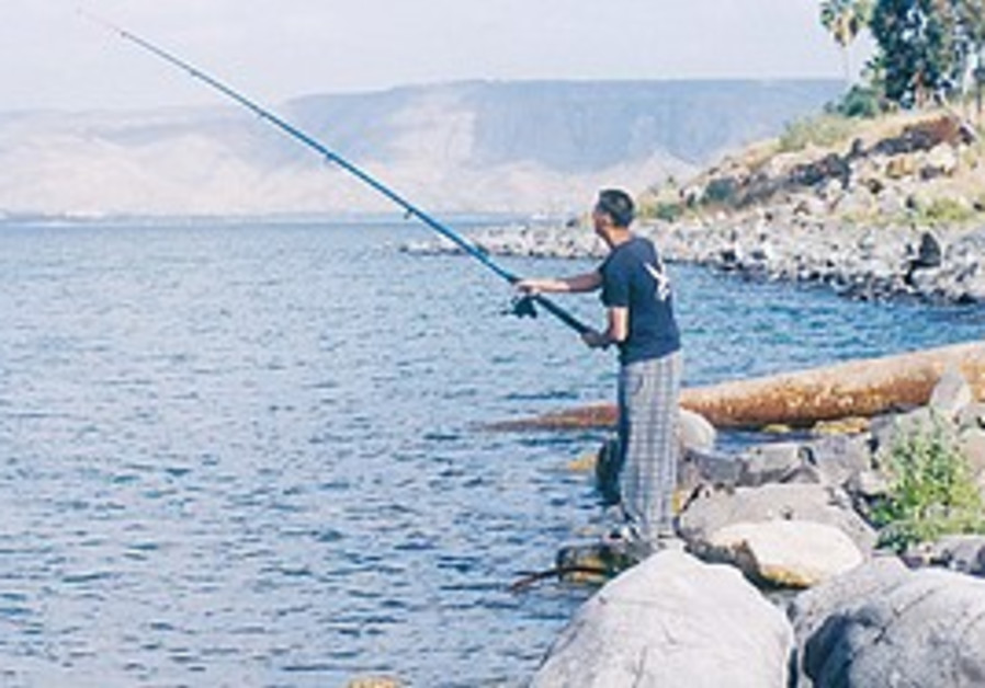 Fishing in the Kinneret