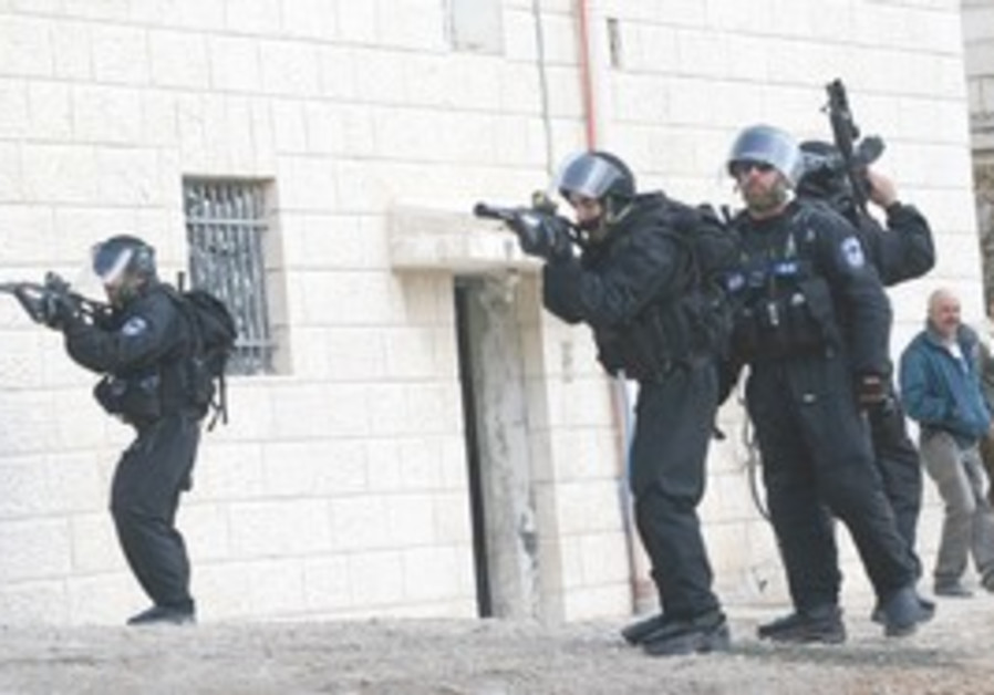 Border Police in a training excercise