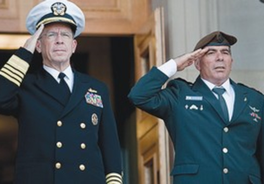 Lt.-Gen. Gabi Ashkenazi and US Admiral Mike Mullen