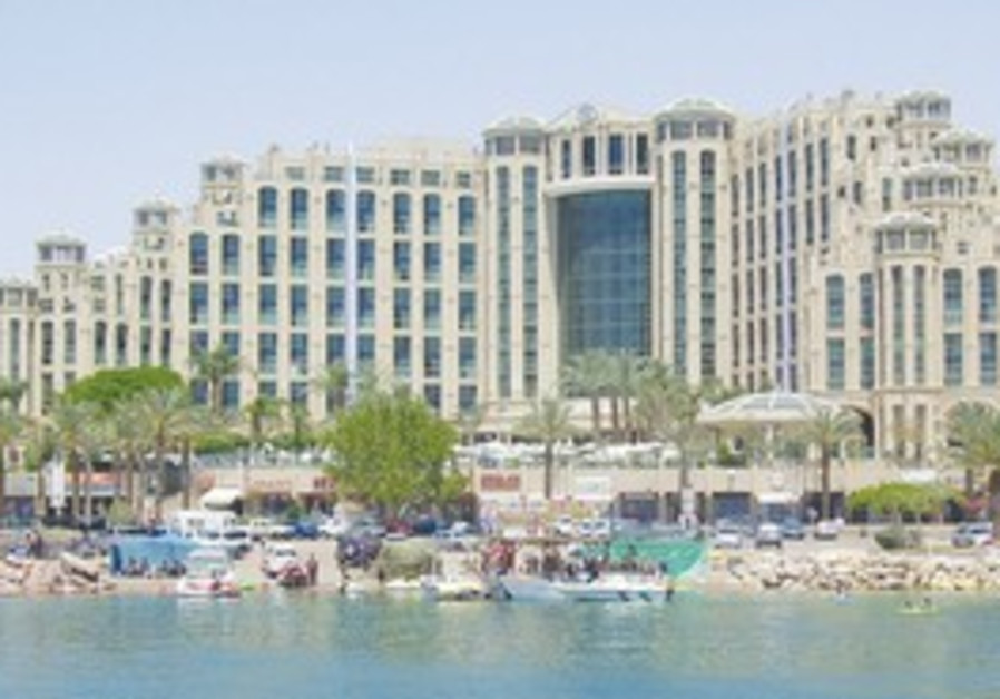 THE HILTON Hotel in Eilat. More foreigners are vis