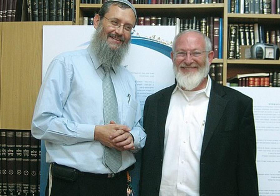 Rabbi Meir Tauber (left) and Rabbi David Samson
