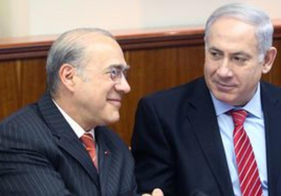 Netanyahu meets OECD's Angel Gurria at cabinet