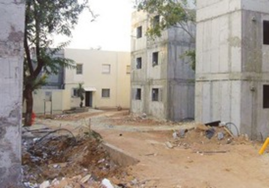 Apartment buildings inf Sderot