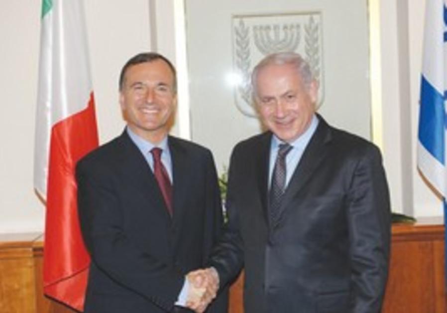 ITALIAN FOREIGN Minister Franco Frattini and Prime