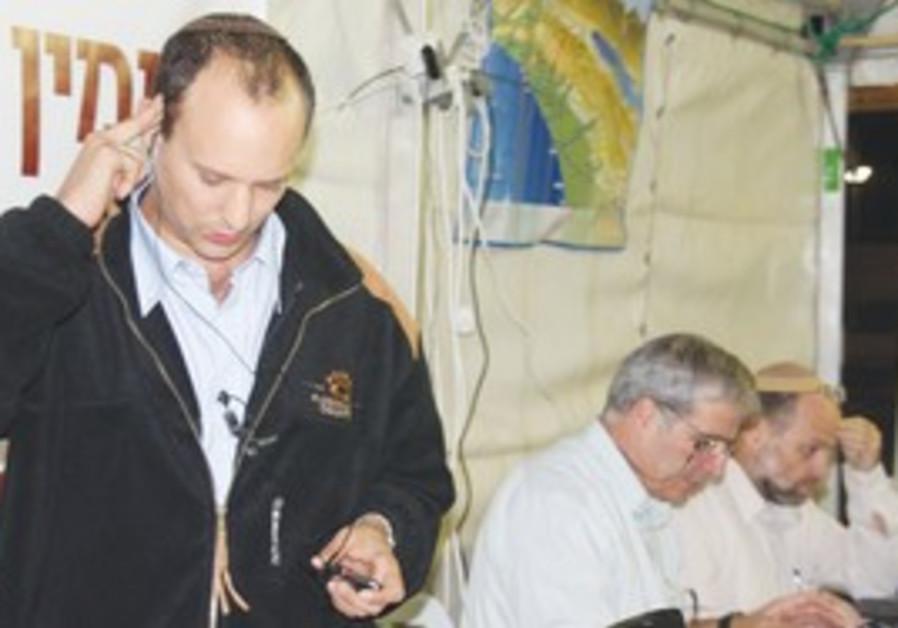 Settler leaders Naftalie Bennet, director-general