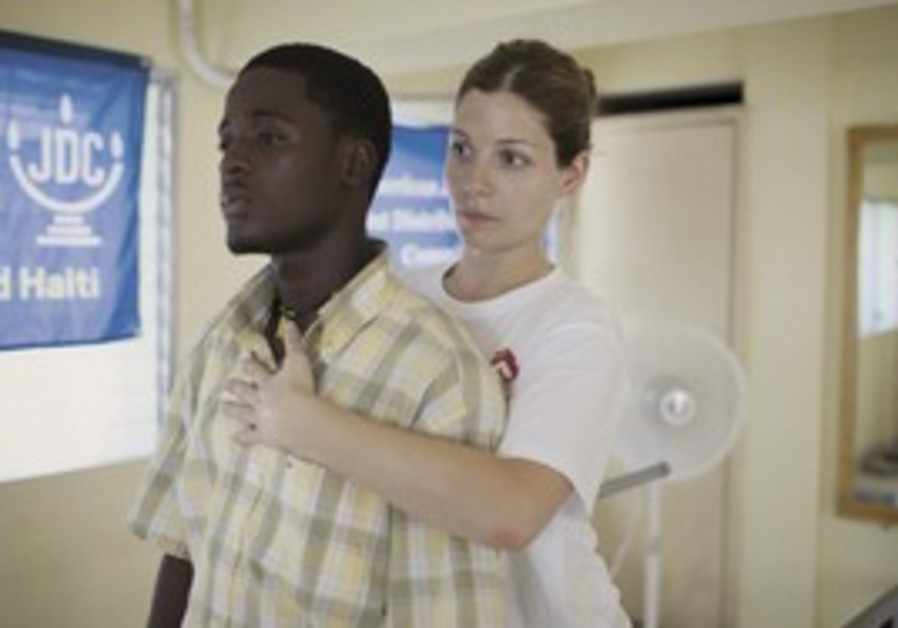 OSCAR IS treated by a Magen David Adom doctor, rig