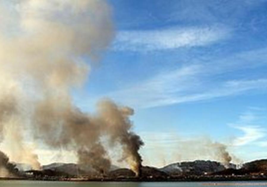 Smoke billows from Yeonpyeong island