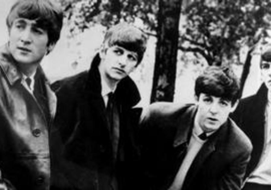 Undated:John (left) Ringo, Paul & George (rt)