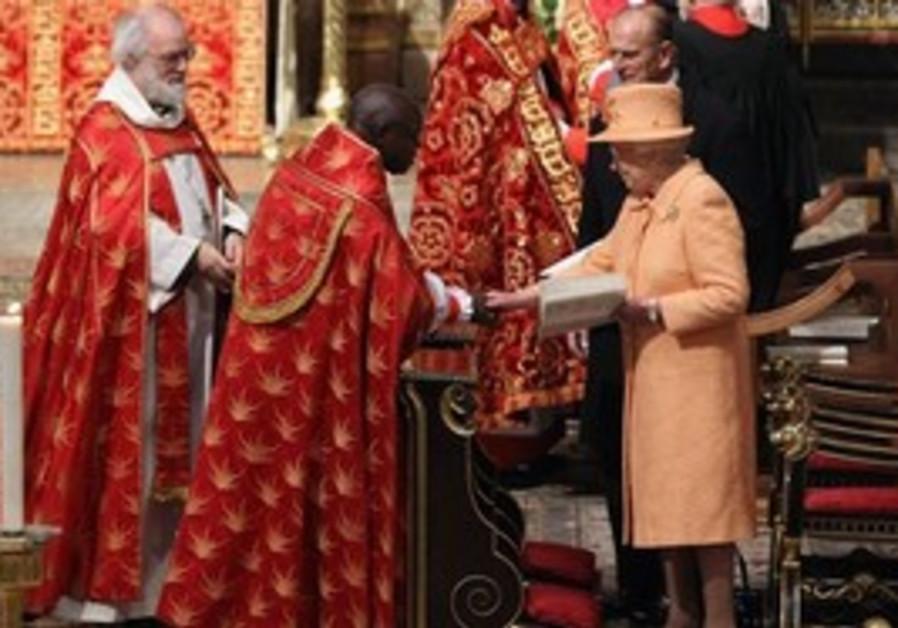 Britain's Queen Elizabeth II, right, and Prince Ph