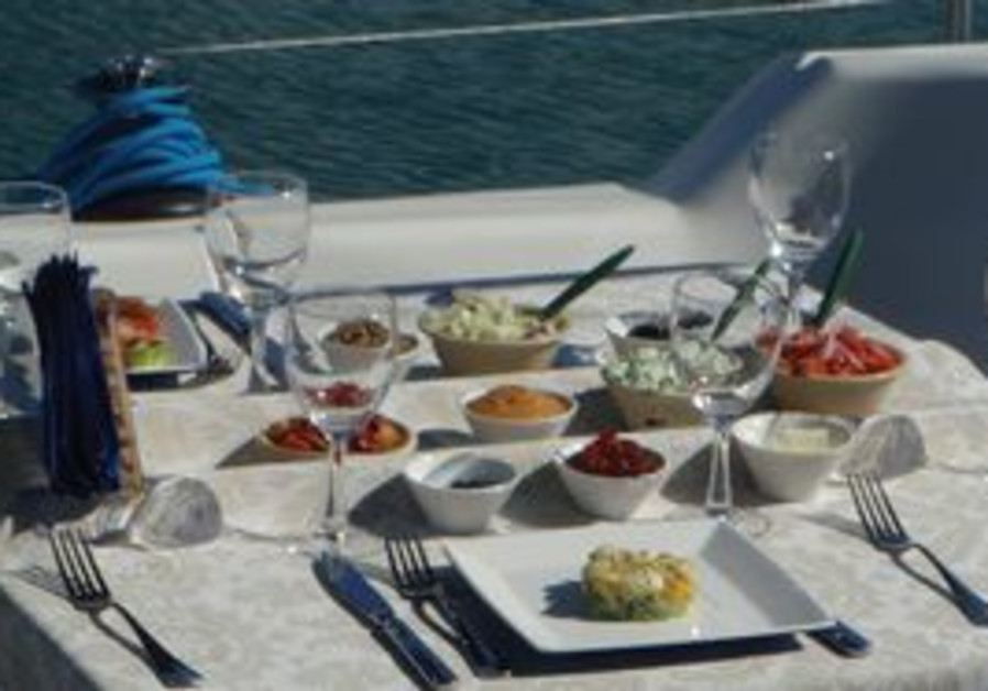 Dining on a private yacht in Ashdod