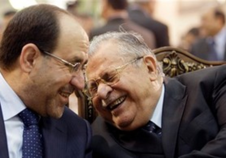 Nouri al-Maliki and Jalal Talabani in Iraq.