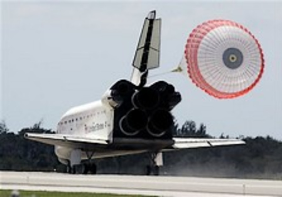 Damaged space shuttle Endeavour lands in Florida
