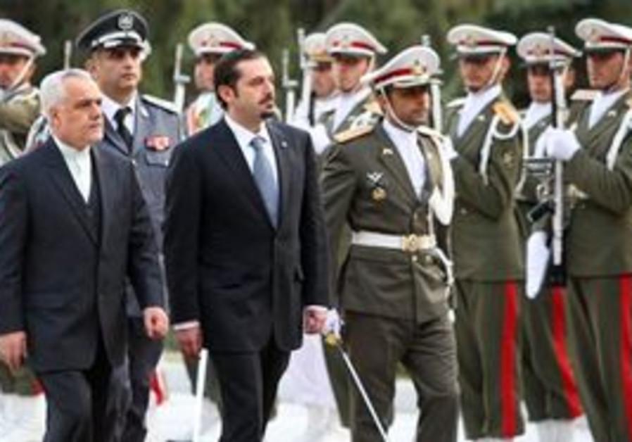 Sa'ad Hariri and Iranian VP Rahim in Iran
