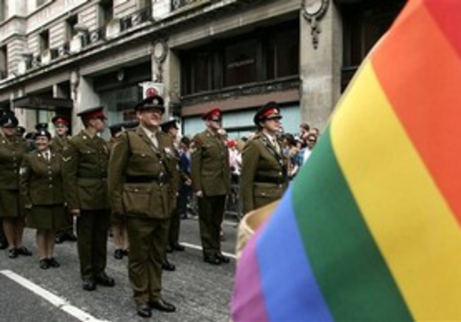 UK troops in Pride Parade, London 2009.