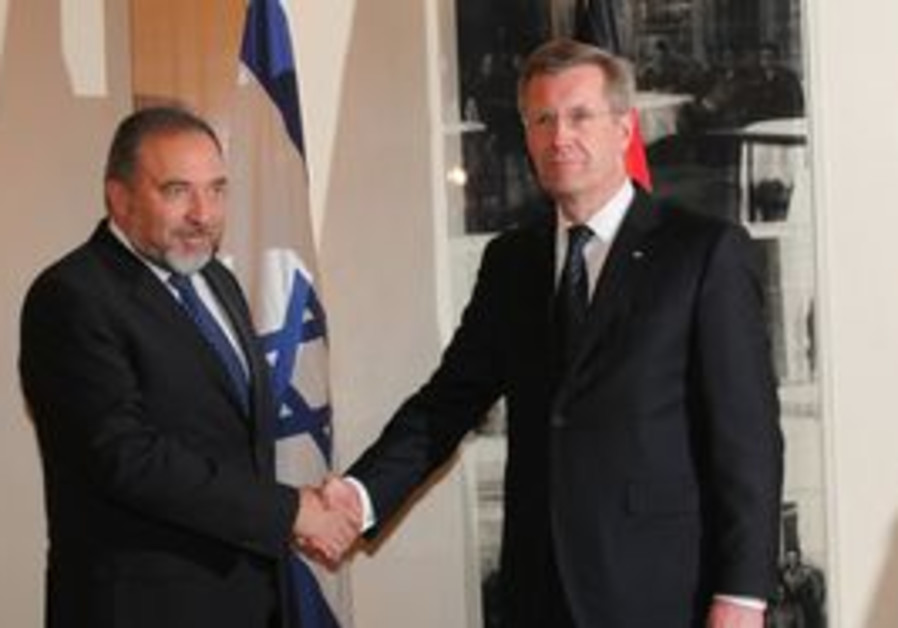 FM Avigdor Lieberman with German President Wolff