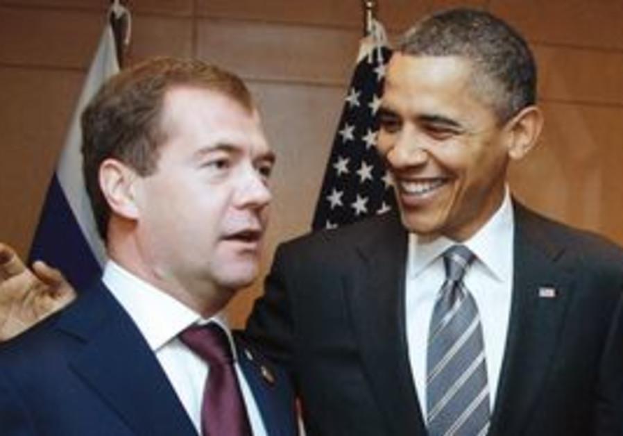 Barack Obama and Dimitri Medvedev
