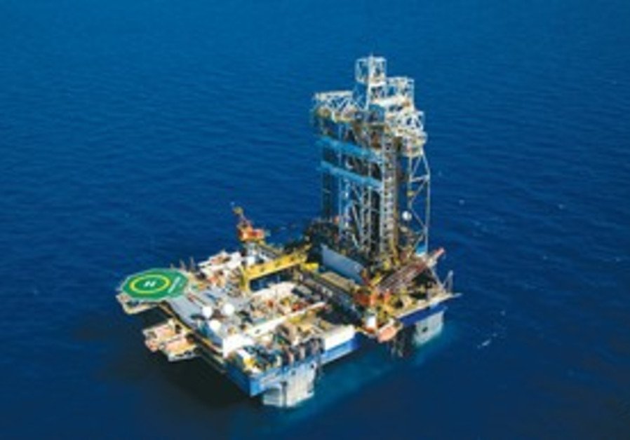 Offshore Leviathan gas field.