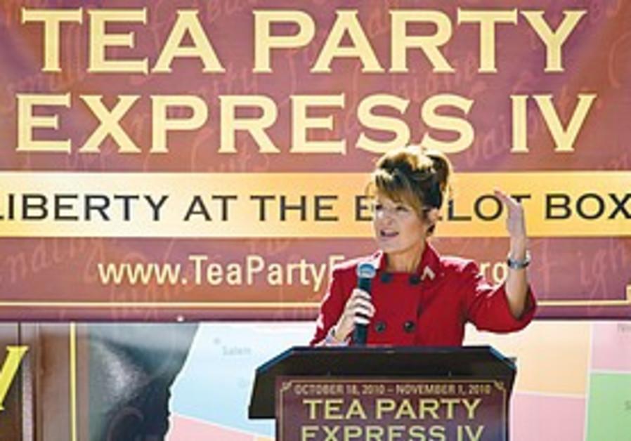 FORMER ALASKA Gov. Sarah Palin speaks.