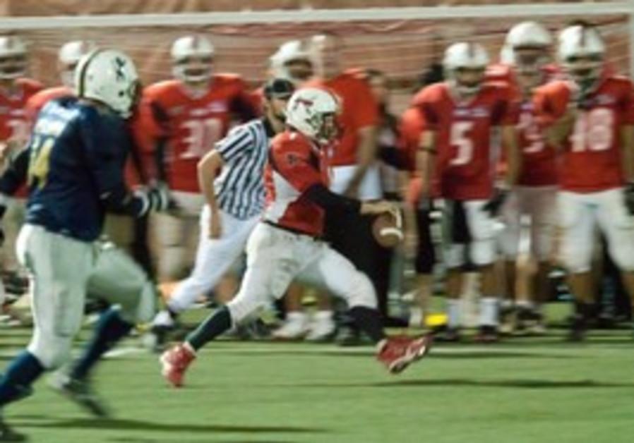 TEL AVIV/JAFFA SABRES quarterback Adi Hakami