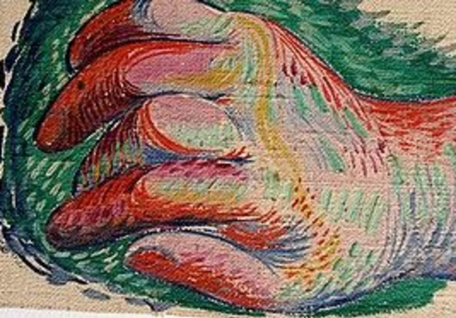 A previously unknown painting of a hand by Picasso