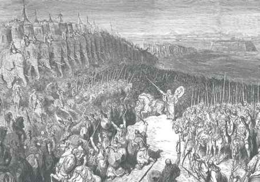 Maccabee facing Nikanor's army, by Gustav Doré.