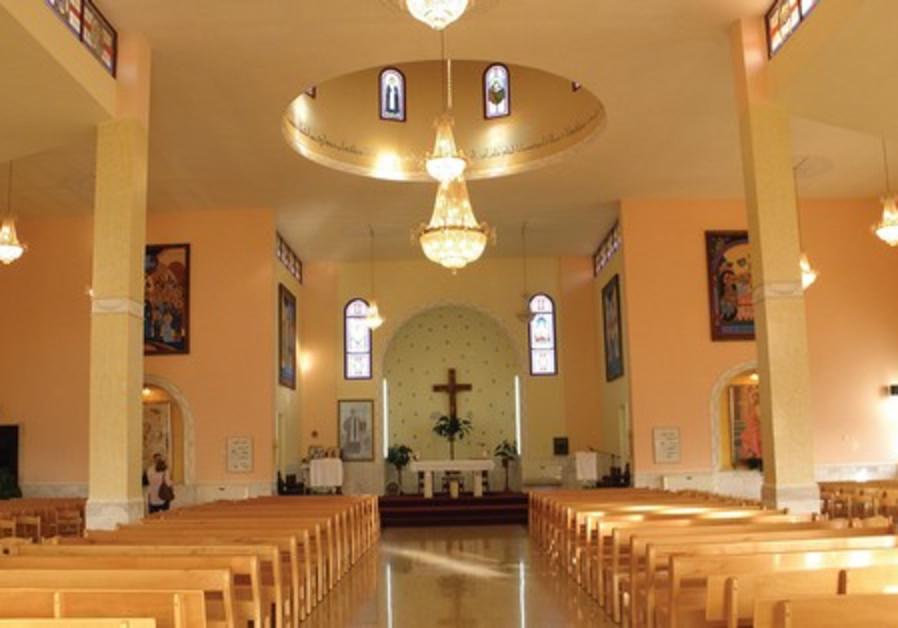 The Maronite Church in Gush Halav, Mount Meron.