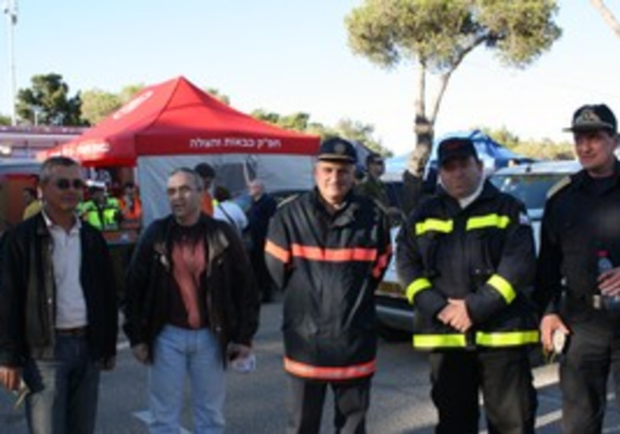Bulgarian firefighters arrive to help fire
