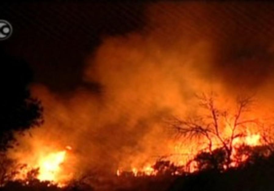 Carmel fire burns through the night