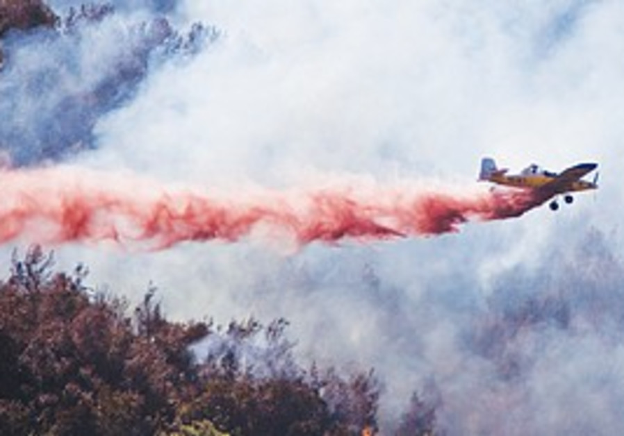 A fire-fighting plane