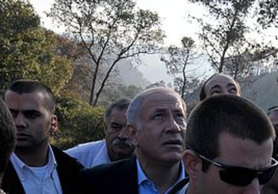 PM Netanyahu visiting the Carmel