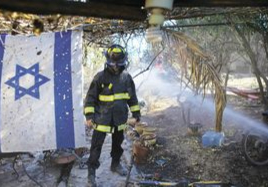 A FIREFIGHTER at Yemin Orde youth village