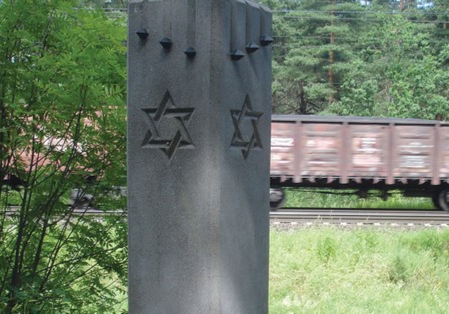 Mass grave from the Holocaust, Riga, Latvia.