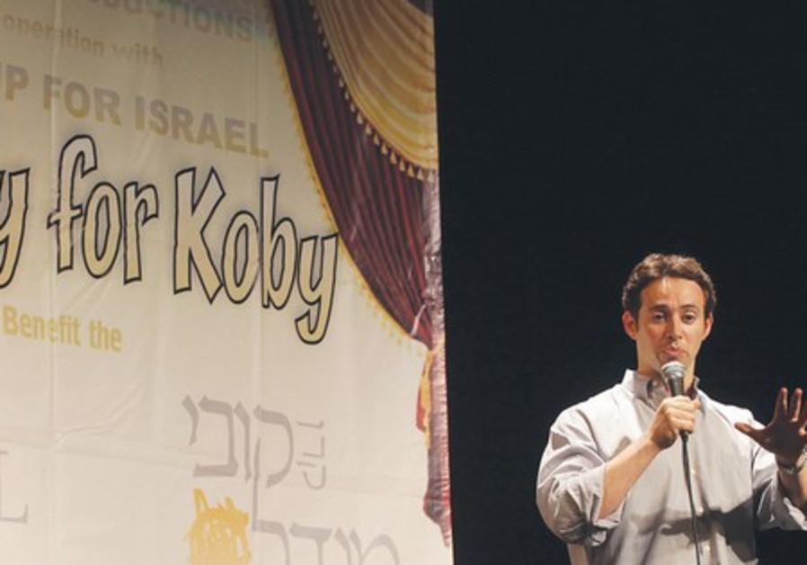 Avi Liberman performs his standup act.