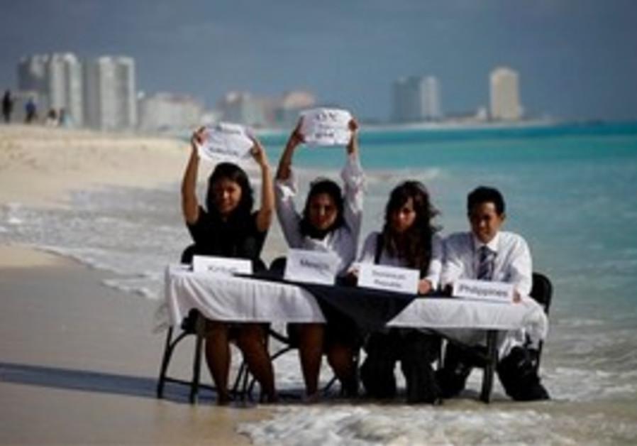 Environmental activists demonstrate at UN Conf.