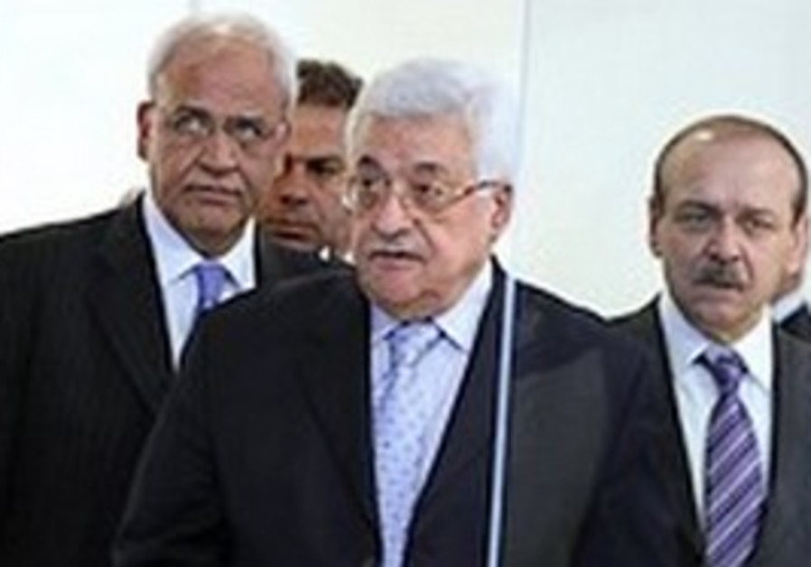 Mahmoud Abbas, Yasser Abed Rabbo and Saeb Erekat