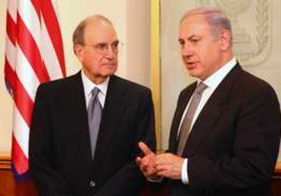 PM Binyamin Netanyahu and US envoy George Mitchell