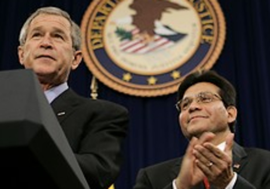US attorney-general announces resignation; Bush reluctantly accepts