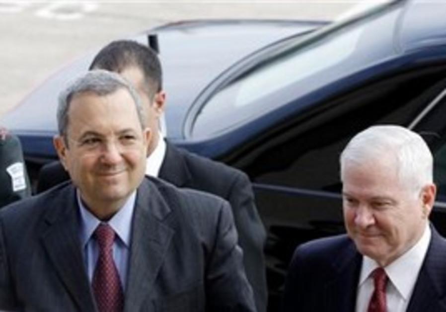 Ehud Barak with US Sec. of Defense Robert Gates