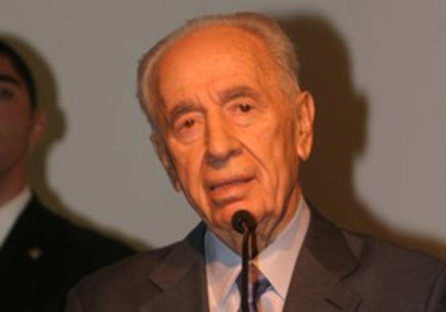 President Shimon Peres speaking