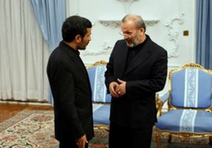 Iranian President  Ahmadinejad with FM Mottaki