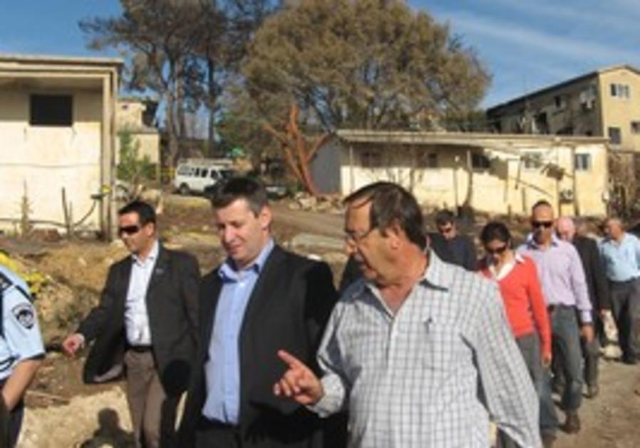 Tourism Minister Stas Meseznikov on a tour.