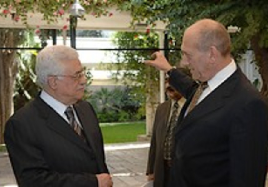 Olmert, Abbas aim to pave way for two-state deal