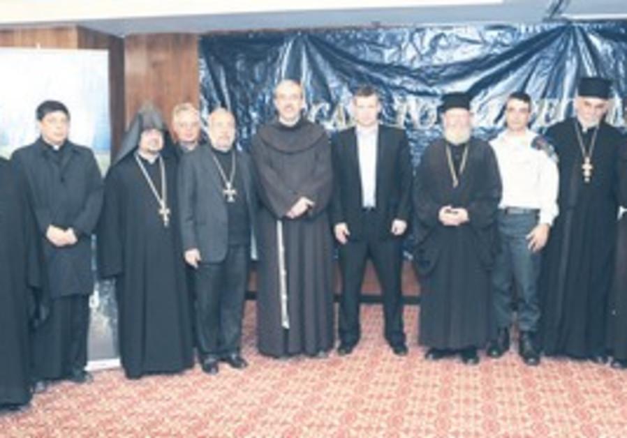 Tourism Minister Meseznikov with Christian leaders