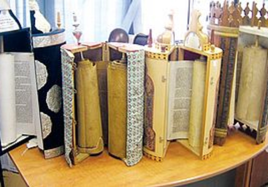 STOLEN TORAH scrolls that were recovered by police